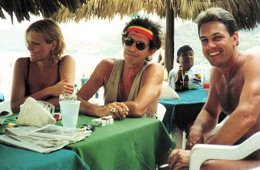 Me with Keith and Patti Richards, Zihuatanejo